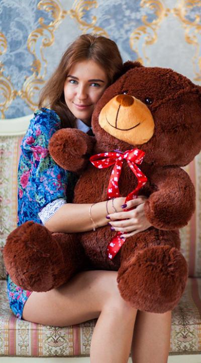 110см Коричневый медведь